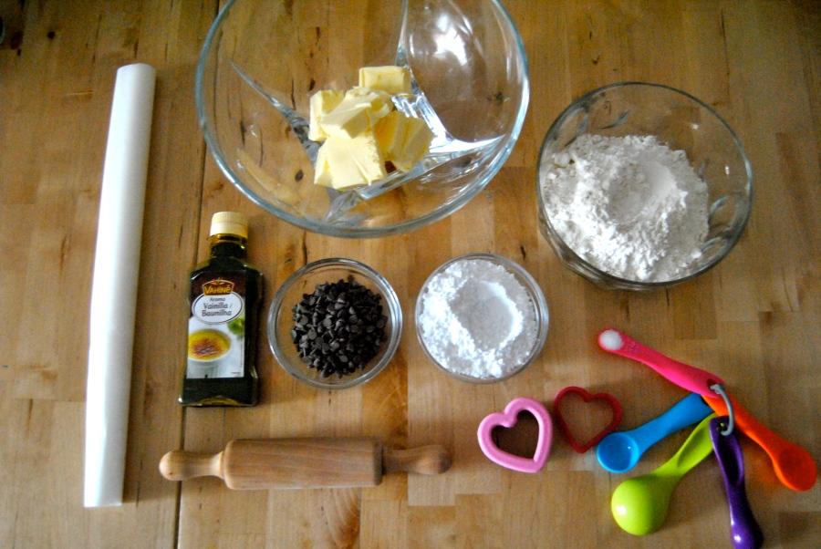 Ingredientes galletas de San Valentín