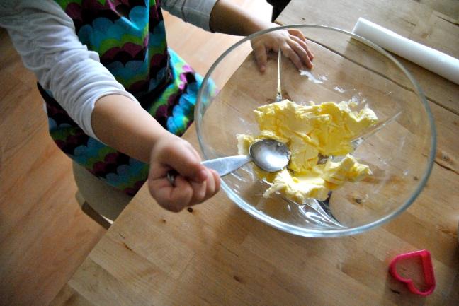 Aplastando mantequilla