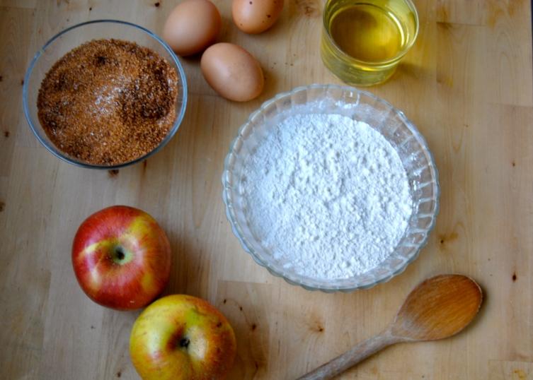 Bizcocho de manzana y nueces