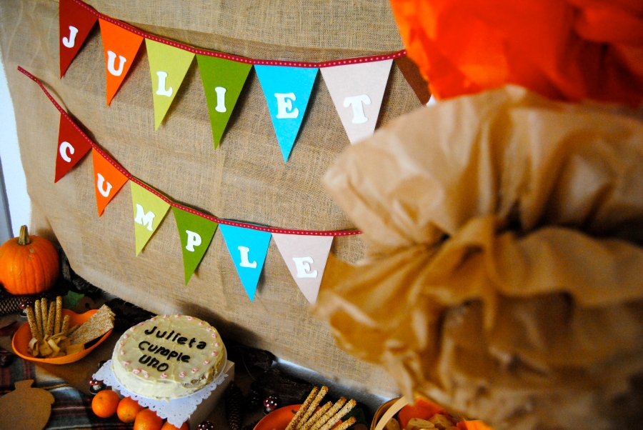 Autumn theme birthday party