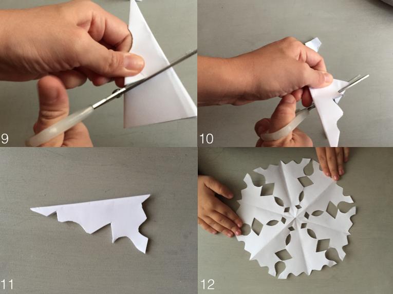 DIY copos de nieve con papel